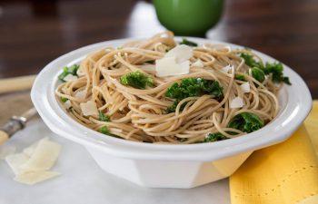 Whole Grain Pasta with Kale, Lemon, and Parmesan