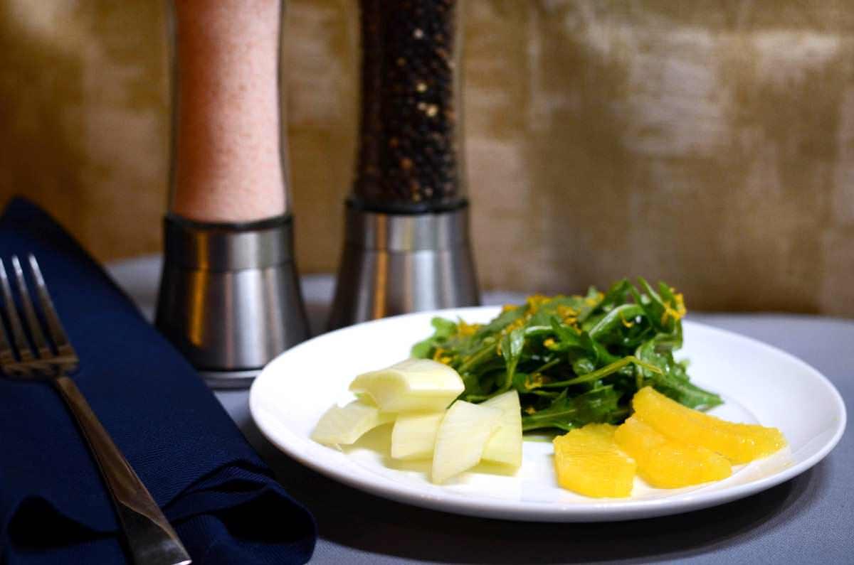 Arugala, Fennel and Orange Salad