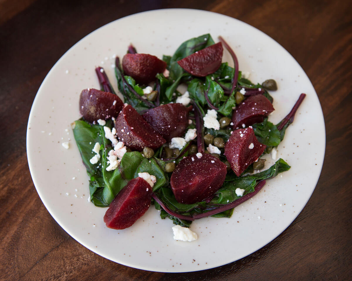 Beet Salad with Greens and Feta
