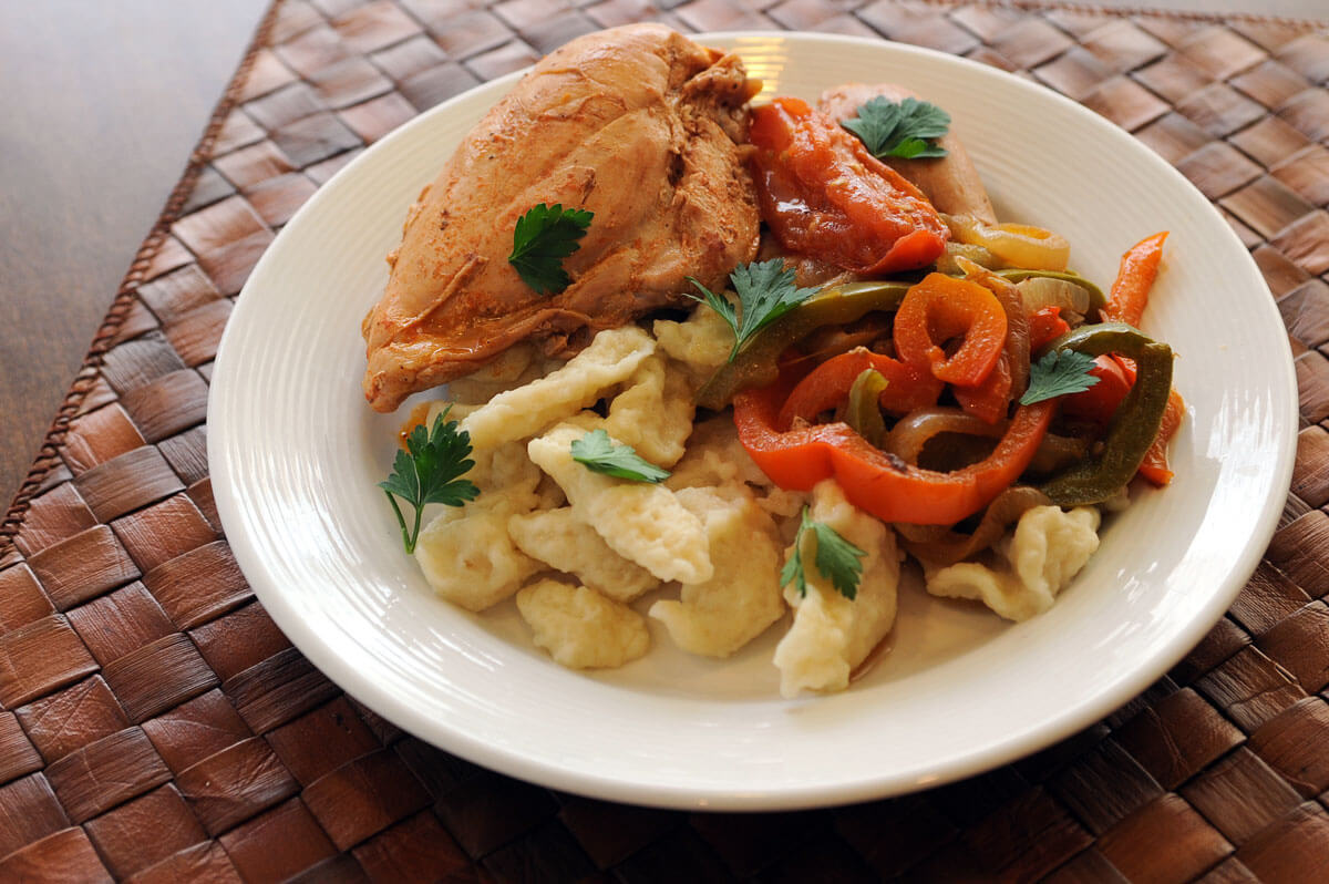 Chicken Paprikash with Knokerly