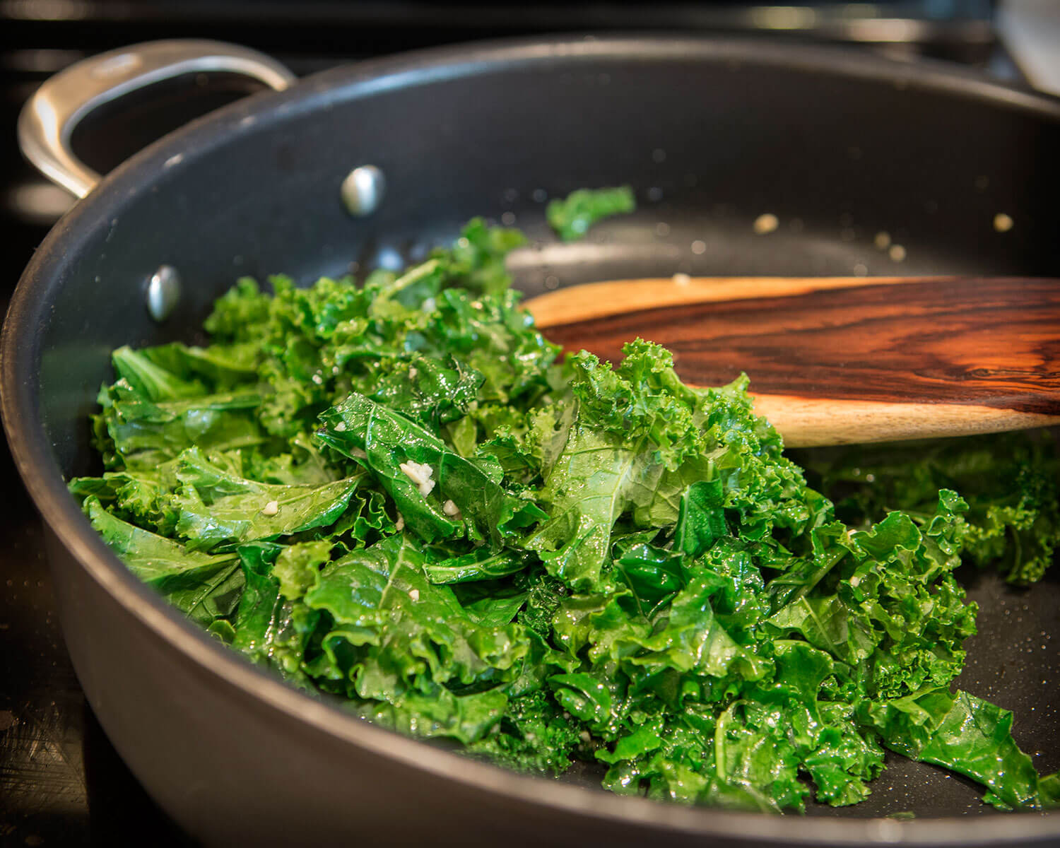 Garlicky Steamed Kale
