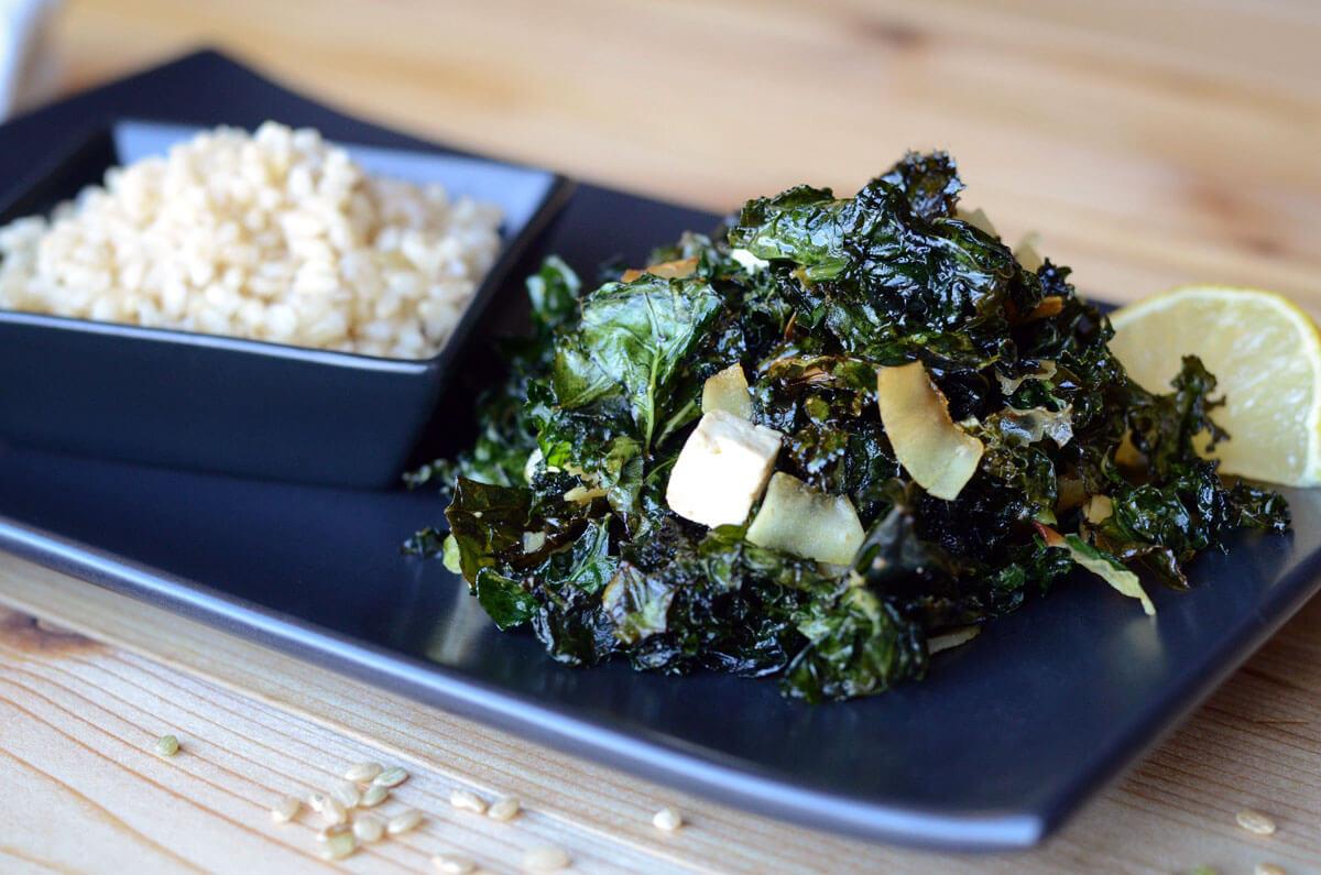 Kale, Coconut and Tofu Salad