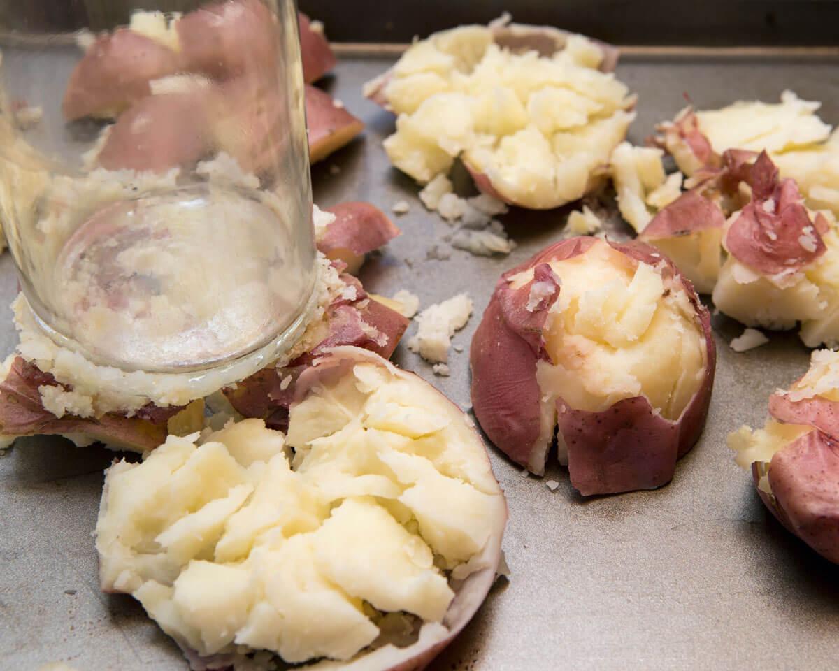 Salt 'N Vinegar Smashed Potatos
