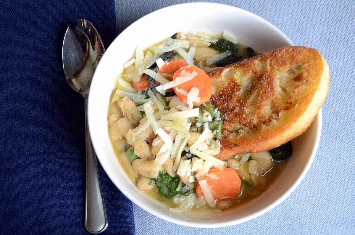 Ribollita with Greens and Cannelini Beans