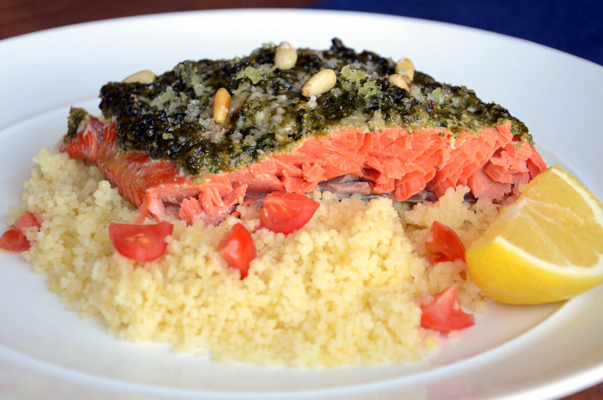 Roasted Pesto Salmon