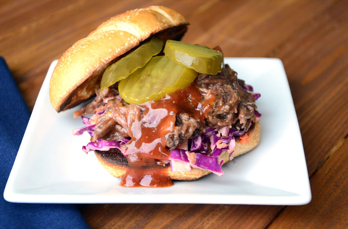 Slow Cooker Pulled BBQ Beef Sandwiches