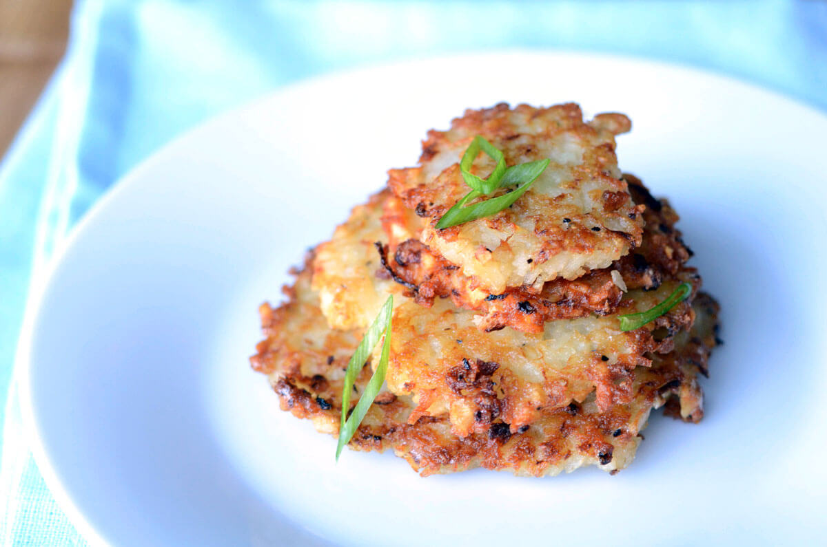Traditional Potato Latkes with Homemade Applesauce